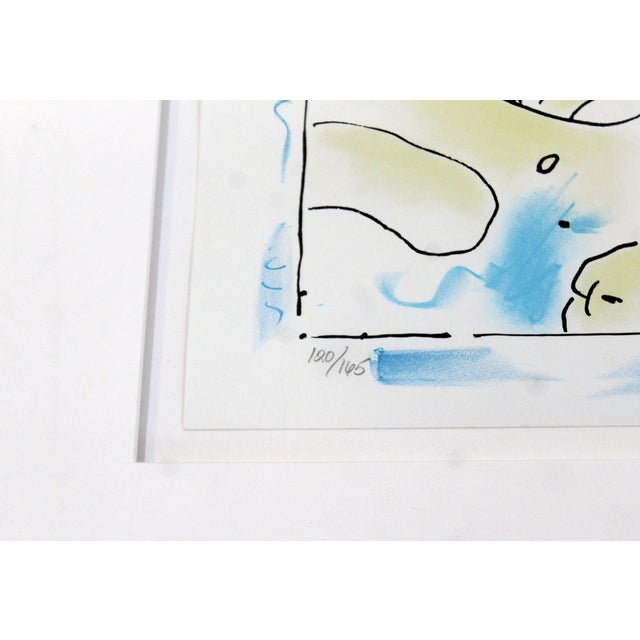 1970s Mid-Century Modern Framed Print by Peter Max Cosmic Face Signed Numbered For Sale - Image 5 of 8