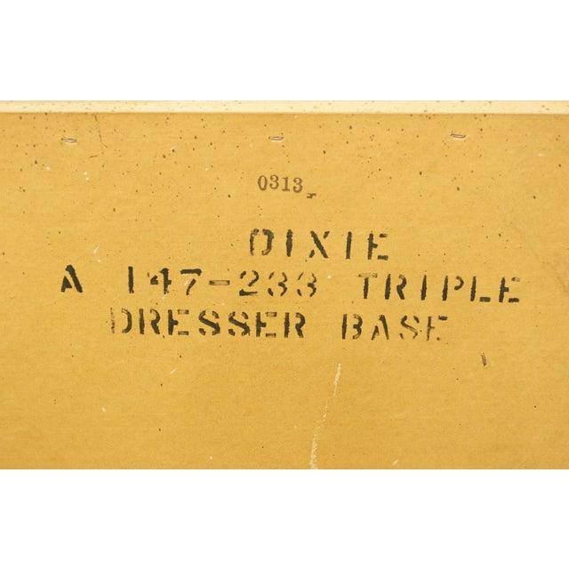 "20th Century Italian Dixie Furniture 64"" Triple Dresser For Sale - Image 12 of 13"
