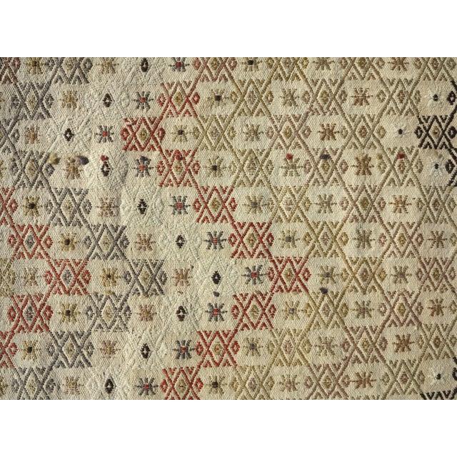 """Textile Vintage Turkish Natural Kilim Runner-2'9'x10'11"""" For Sale - Image 7 of 13"""
