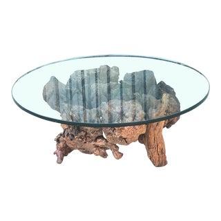 Vintage Burl Wood Coffee Table