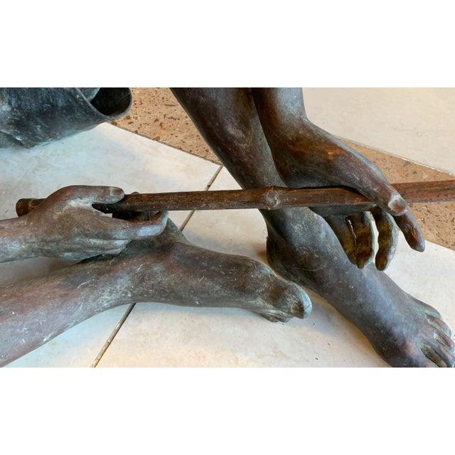 "Green Susanne Vertel ""Dream Catcher"" Bronze Statue For Sale - Image 8 of 11"