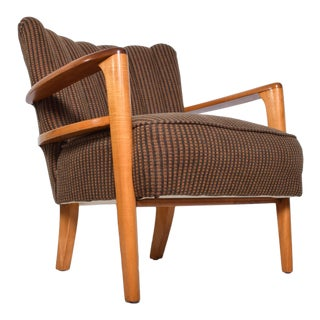 Mid Century Modern Heywood Wakefield Maple Lounge Chair 1950's For Sale