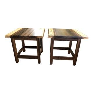 Artisan Made Amish Custom Poplar End Tables -A Pair For Sale