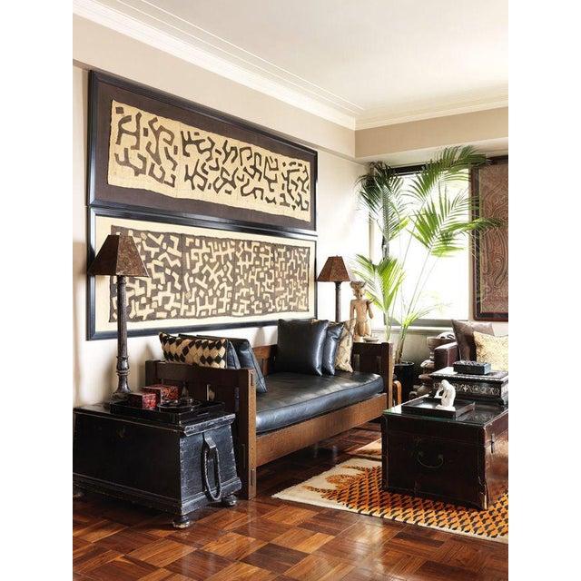 African Kuba Textile Raffia Wall Hanging - Image 8 of 9