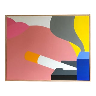 Pop Art Modern Still Life Painting After Wesselmann by J. Marquis For Sale