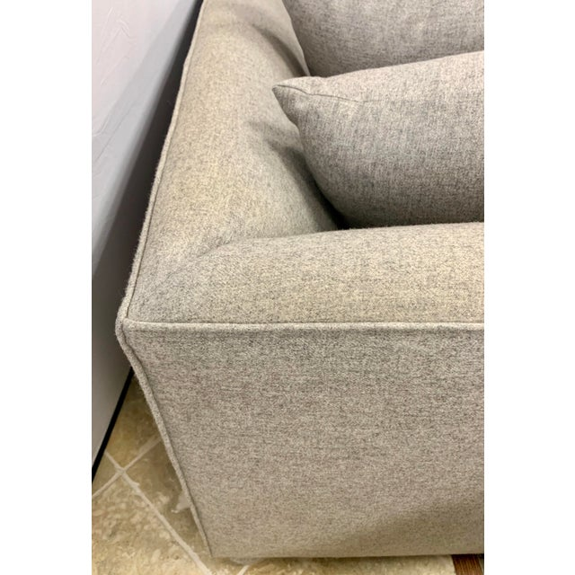 John Hutton for Donghia Gray Sofa For Sale In New York - Image 6 of 9