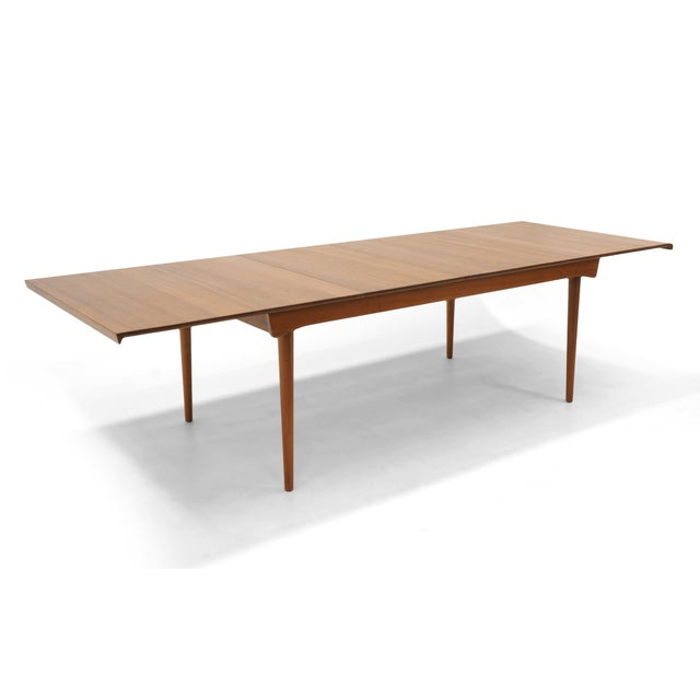 Finn Juhl Teak Dining Table, Expandable with Two Leaves, Exceptional Condition - Image 2 of 11