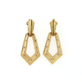 Gold Trifari Earrings For Sale