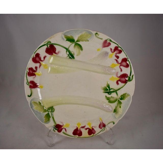 K&G St. Clément French Faïence Bleeding Heart Asparagus Plate For Sale - Image 10 of 10