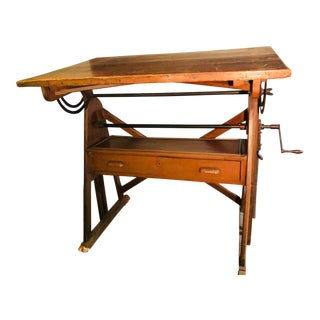Antique French Drafting Table Desk For Sale