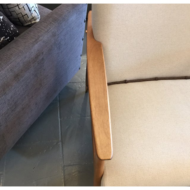 Mid-Century Modern Mid-Century Inspired Lounge Chairs - a Pair For Sale - Image 3 of 5