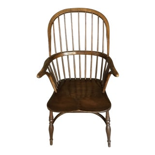 Antique Brown Windsor Chair For Sale