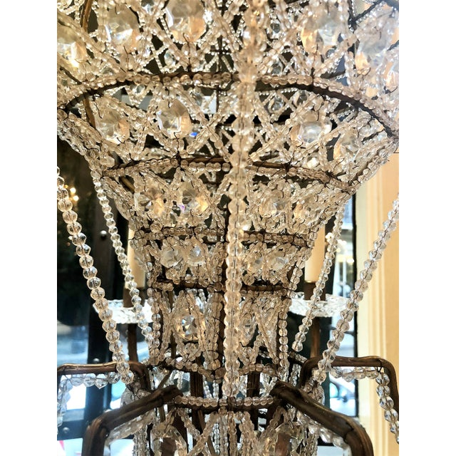 "Estate Crystal Beaded Balloon Chandelier Called ""Montgofier"" For Sale - Image 4 of 5"