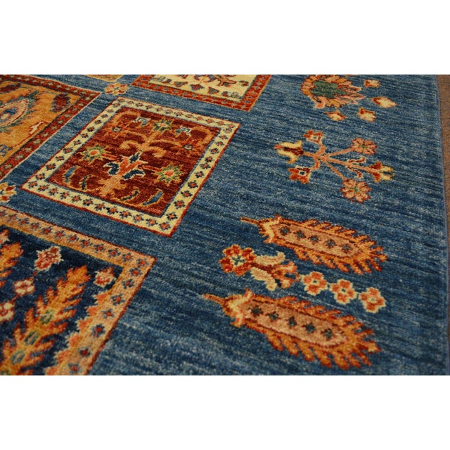 Hand Knotted Persian Bakhtiari Wool Rug - 8′5″ × 9′9″ For Sale - Image 5 of 8