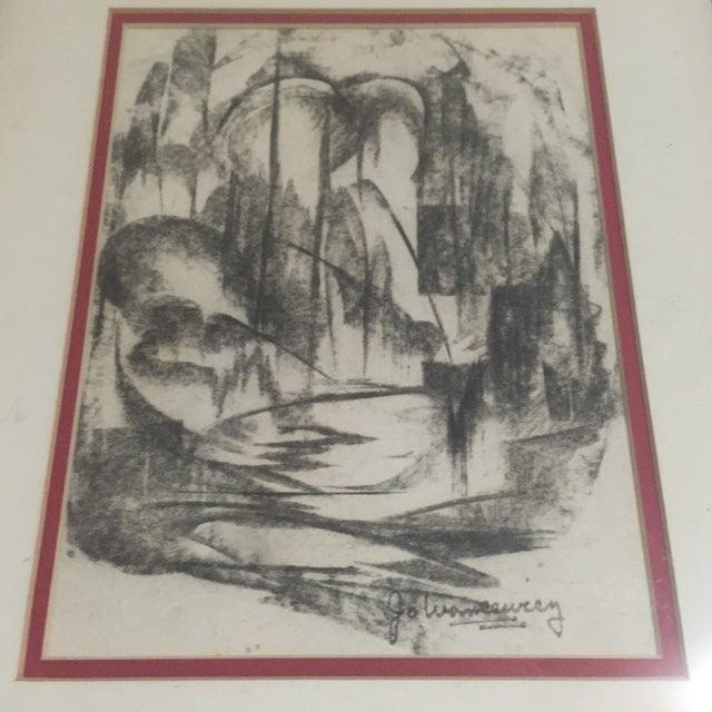 Mid-Century Signed Original Abstract Art - Image 3 of 6