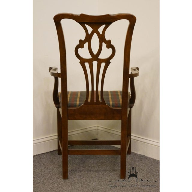 Late 20th Century Drexel Heritage Chippendale Style Dining Chair For Sale In Kansas City - Image 6 of 13