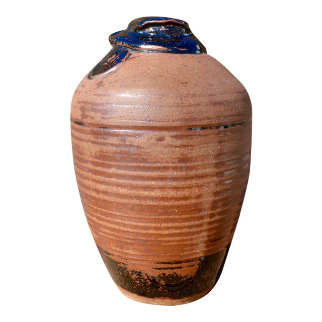Vintage Hand Thrown Terra Cotta Pottery Vase - Image 1 of 6