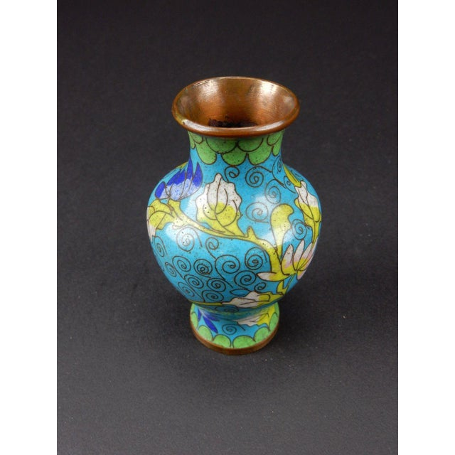 Antique Chinese Cloisonne Temple Vase For Sale - Image 9 of 11