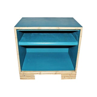 Painted Faux-Bamboo End Table For Sale