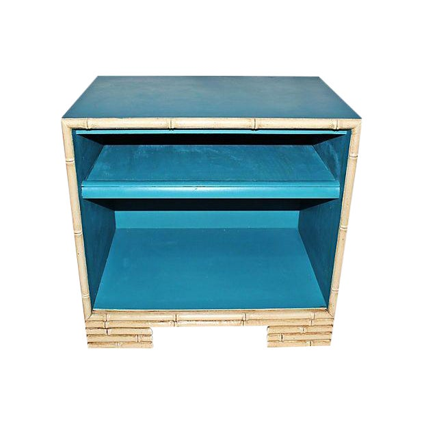 Painted Faux-Bamboo End Table - Image 1 of 3