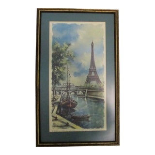 Vintage Paris Summer Framed Print For Sale