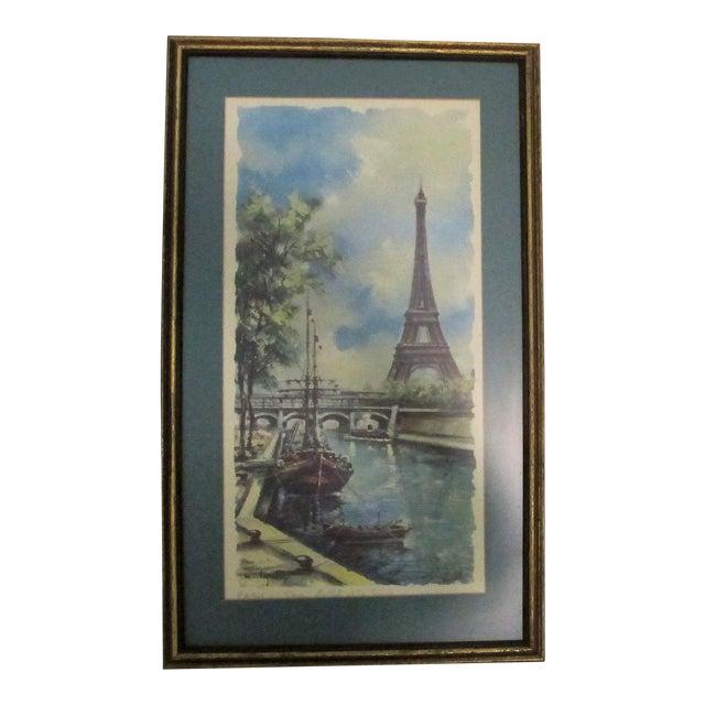 Vintage Paris Summer Framed Print For Sale