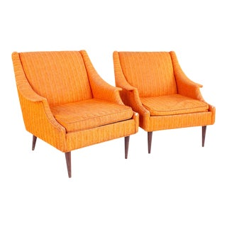 Mid Century Paul McCobb Style Kroehler Lounge Chairs - Pair For Sale