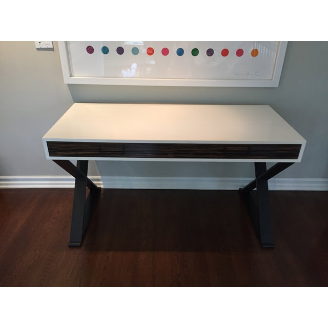 Lawson Fenning Black Steel & Wood Desk - Image 3 of 6