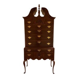 18th Century Traditional Hickory Chair Mahogany Highboy For Sale