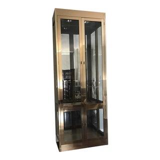 Mastercraft Hollywood Regency Brass Display Cabinet For Sale