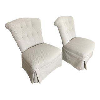 Armless Boudoir Chairs - A Pair