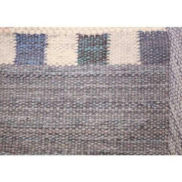 Boho Chic Vintage Swedish Kilim Rug by Marianne Richter for Marta Maas - 7′4″ × 7′6″ For Sale - Image 3 of 11