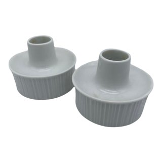 Tapio Wirkkala for Rosenthal Porcelain Candle Holders For Sale
