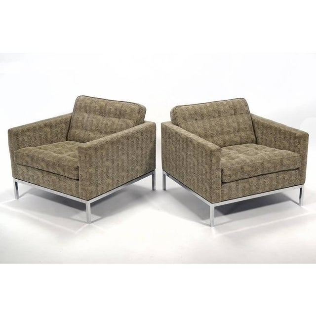 Florence Knoll Tuxedo Lounge Chair, Pair - Image 6 of 8