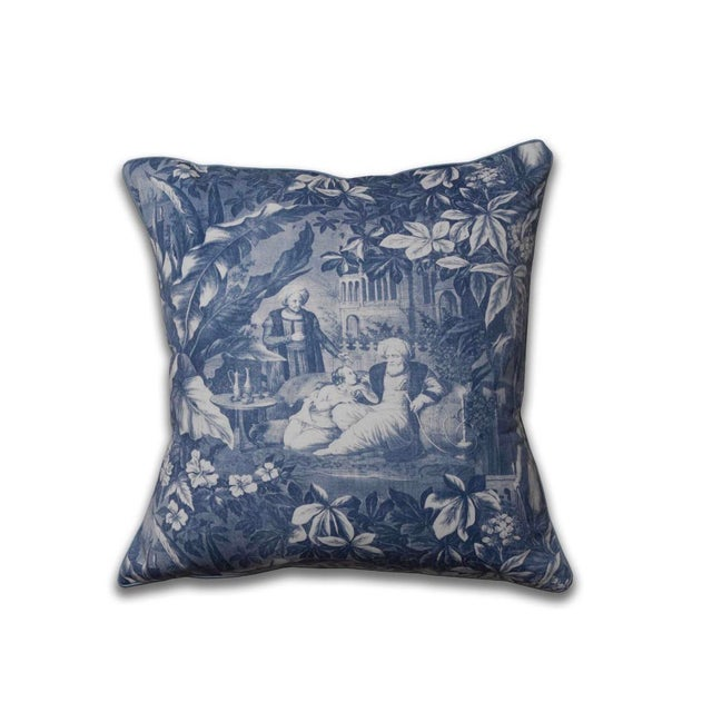 English Traditional Harem Scenes Print Pillow For Sale - Image 3 of 3