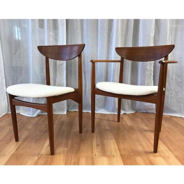 Set of 7 Uncommon Hvidt and Mølgaard-Nielsen Teak Dining Chairs for Søborg Møbelfabrik - Image 3 of 10