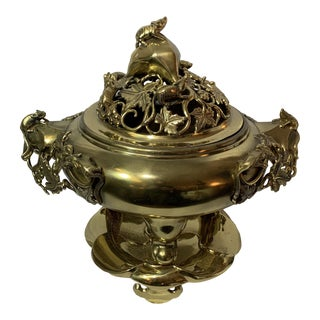 Chinese Gilded Bronze Censer For Sale