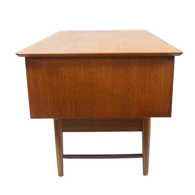 Danish Modern Dual Sided 5 Drawer Desk - Image 6 of 8