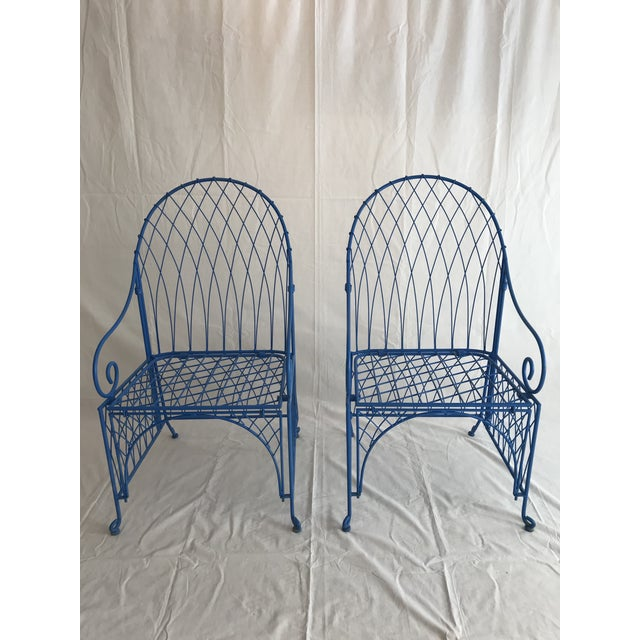 Vintage Italian Iron Folding Chairs - A Pair For Sale - Image 9 of 9