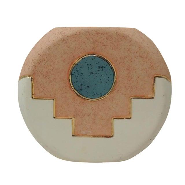 Southwestern Round Ceramic Vase - Image 1 of 5