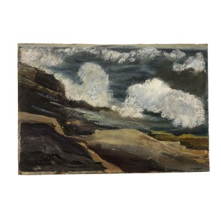 Impressionist Oil of the Rocky Maine Coast, 1950s For Sale