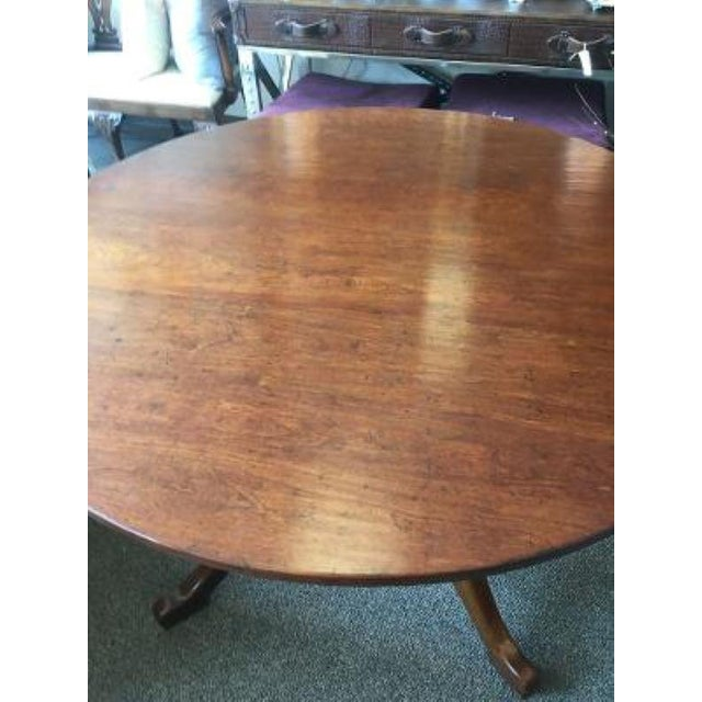 English Cherrywood Round Pedestal Table For Sale - Image 4 of 6