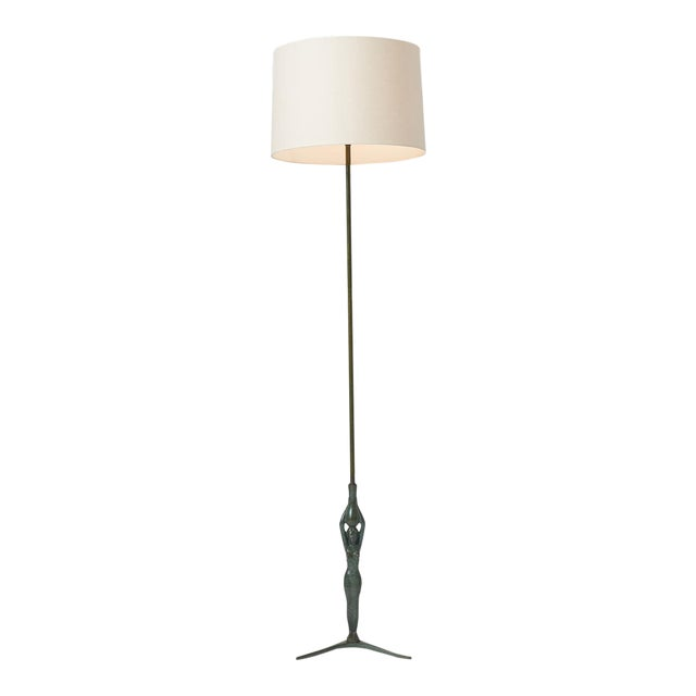 Gino Scarpa Floor Lamp in Bronze For Sale