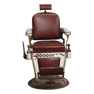 Antique Emil J. Padair Barber Chair For Sale