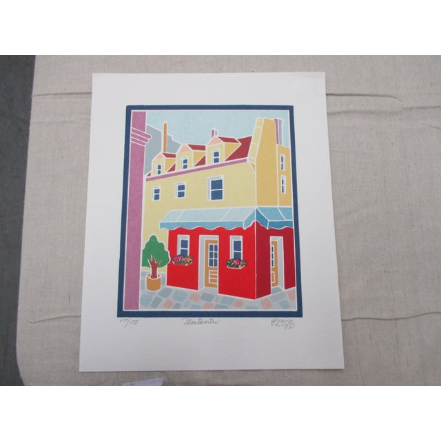 Vintage Lithograph Titled: Montmartre Signed by the Artist: Grace For Sale In Miami - Image 6 of 6