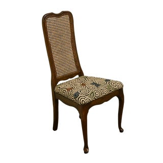 Davis Cabinet Solid Cherry Cane Back Dining / Side Chair For Sale
