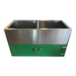 Kerr Ranchhouse Twin Apron Sink Stainless Steel For Sale
