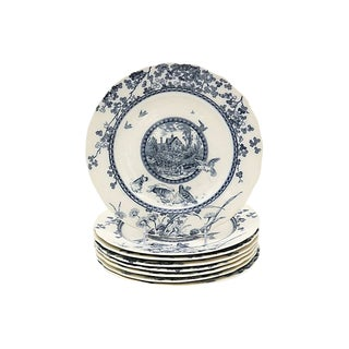 Antique English Aesthetic Movement Plates, C.1880 - Set of 8 For Sale