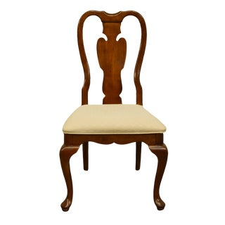 Late 20th Century Universal Furniture Queen Anne Style Dining Side Chair For Sale
