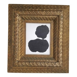 Black & White Abstract Framed Painting For Sale